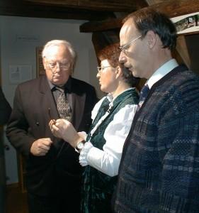Horst Schnur, Barbara Dittmann, Norbert Harre im Museum