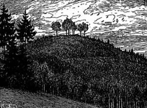 Der Schnellerts um 1900 mit freiem Blick auf das Gersprenztal