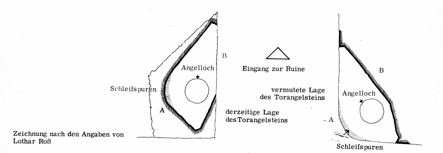 Schleif spuren am Torangelstein nach Lothar Roß