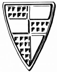Das Wappen von Rudolf von Rodenstein nach seinem Siegel 1256