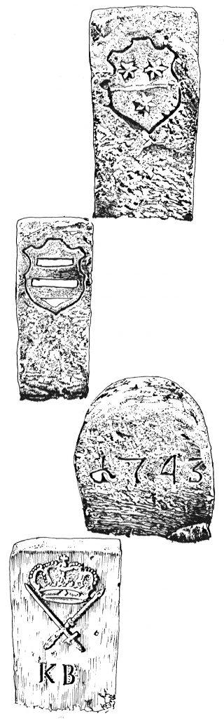 Grenzstein 1743 Zeichnungen: W. Krüger