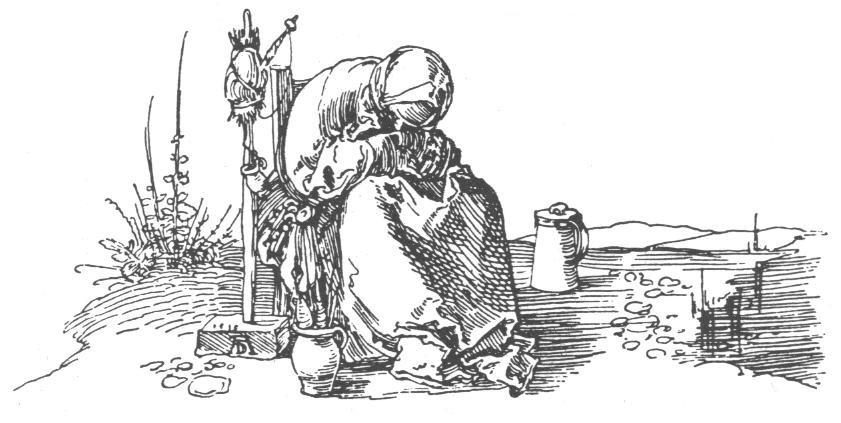 Weinende Bäuerin Federzeichnung von Albrecht Dürer um 1515