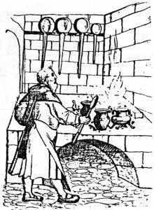Küchenszene, Anfang 15. Jahrhundert
