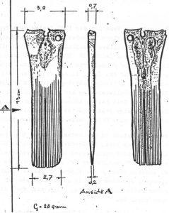 Kamm aus Oberschenkelknochen