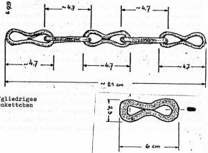 Fünfgliedriges Eisenkettchen