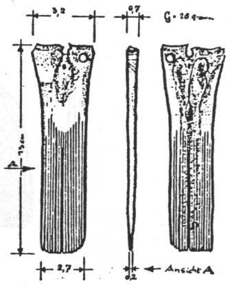 Kamm aus Oberschenkelknochen (Hirsch oder Schwein)