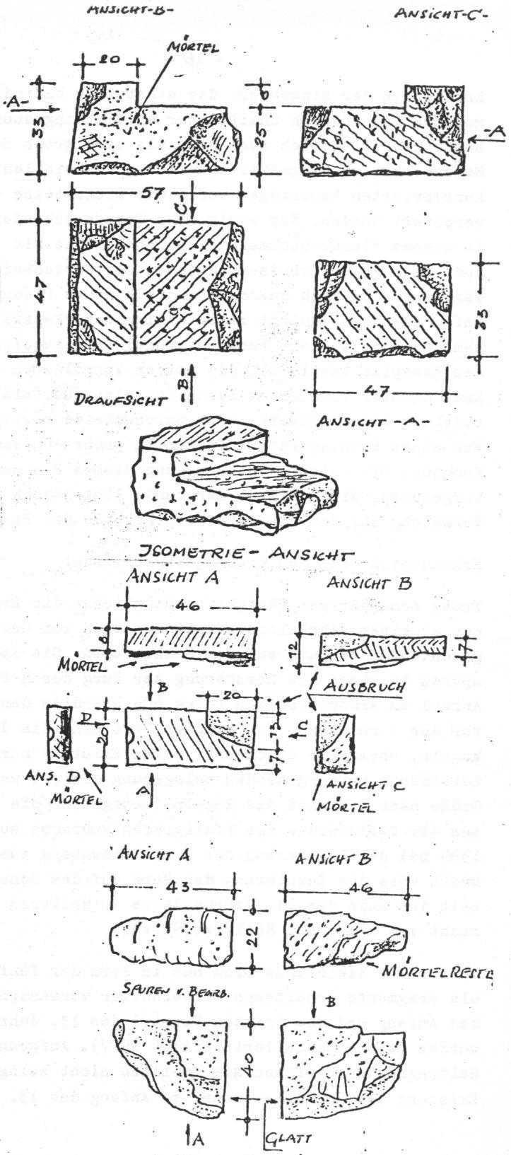 Sandstein Bruchstücke