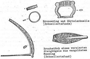 Steigbügel, Gürtelschnalle, Bronze Ring