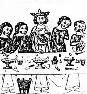 Tafelzene aus dem 15. Jahrhundert