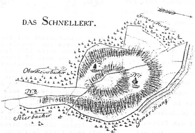 Die 1805 von Geometer Jacob Lohr gefertigte Flurksrte