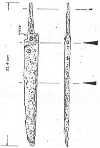 Eisenmesser aus dem Torbereich (Schnellertsfund 1979)