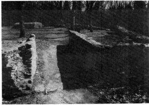 Teilansicht des konservierten Mauerwerks (Zustand 1986)