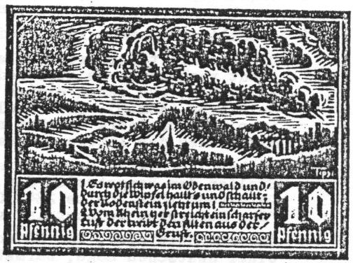 Notgeld Fränkisch Crumbach 10 Pfennig