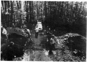 Toranlage während der 1976 erfolgten Freilegung